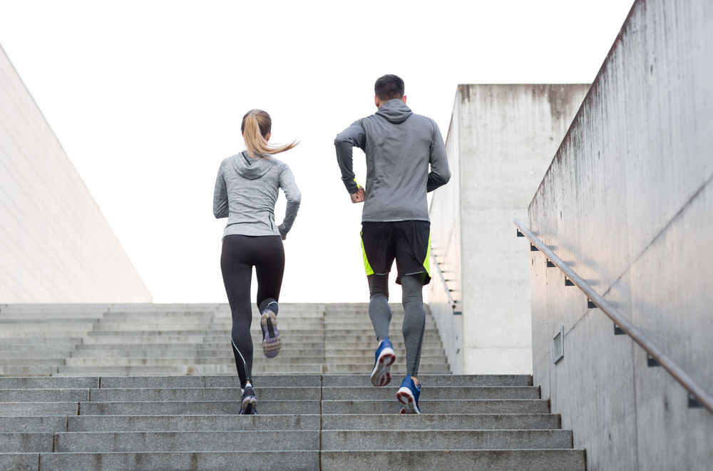 Couple staying fit by running